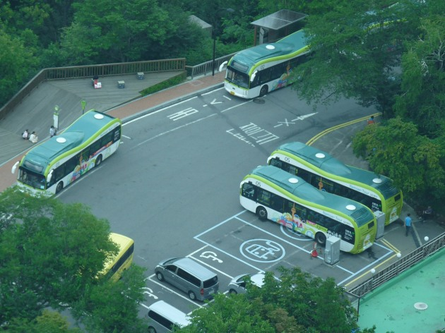 Electric Bus at Namsan in Seoul